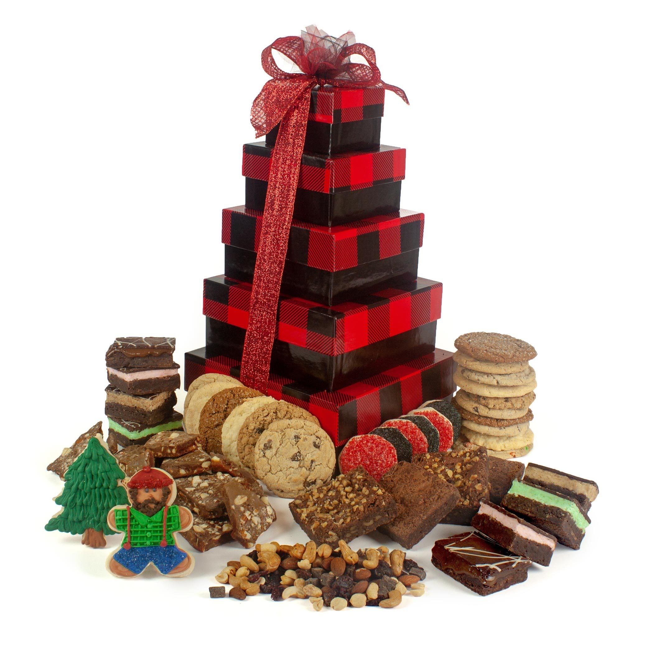 Buffalo Plaid Deluxe Gift Tower