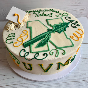 Graduation Logos Cake (Nashoba Regional High School and UVM)
