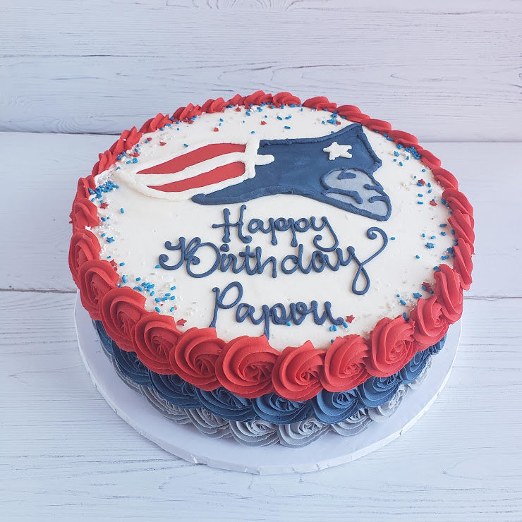New England Patriots Cake
