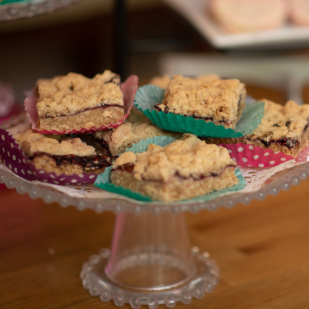 Raspberry Oat Crumb Fruit Bars (GF and Vegan)