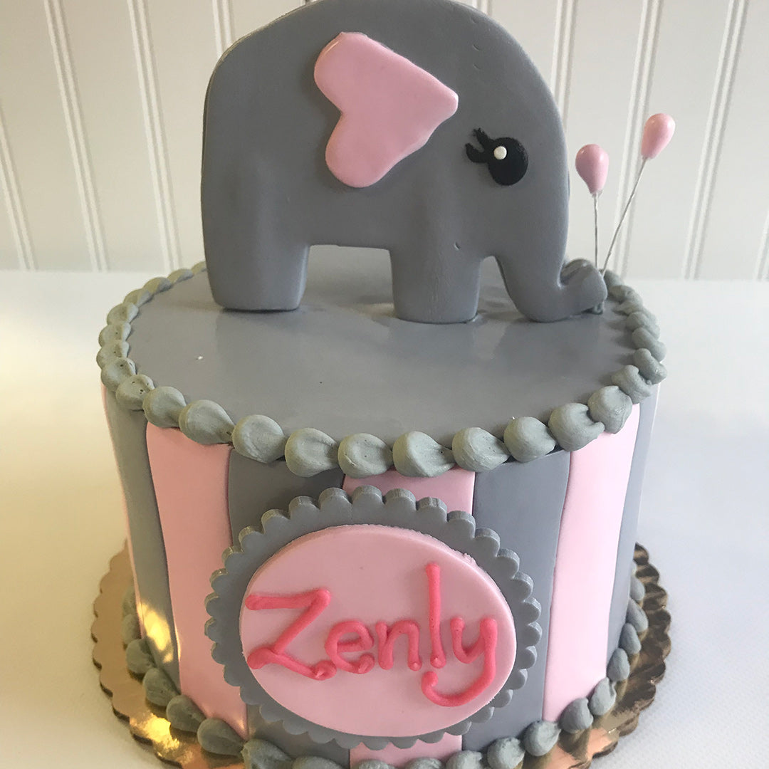 Pink Elephant and Stripes