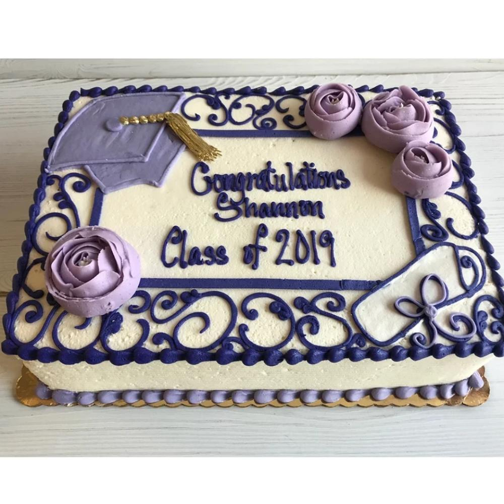 Purple Graduation Cake