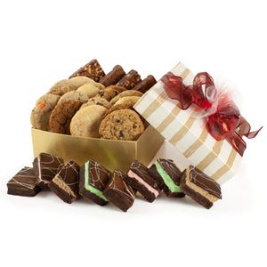Golden Stripes Cookie and Brownie Gift - Gluten Free