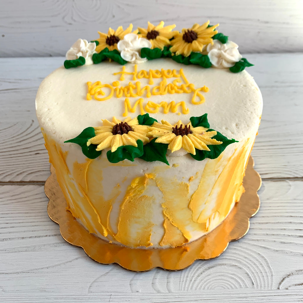 Sunflower Watercolor Cake