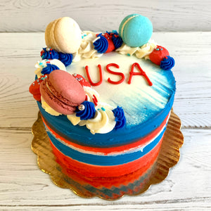 Team USA Patriotic Cake