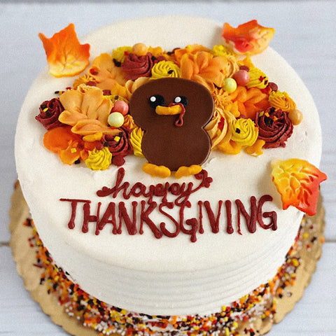 Turkey Thanksgiving Cake