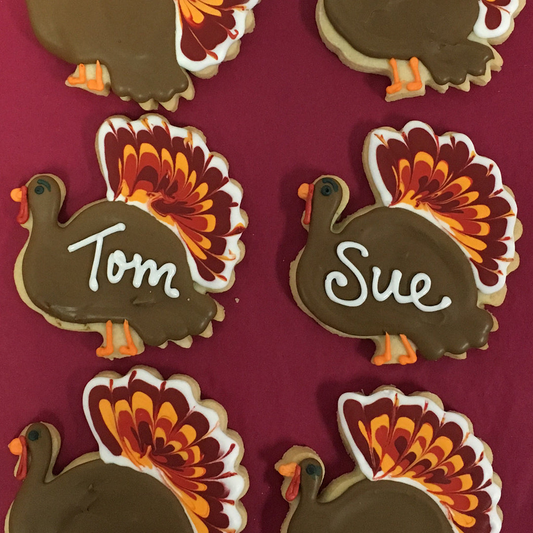 Turkey Place Card Cookies