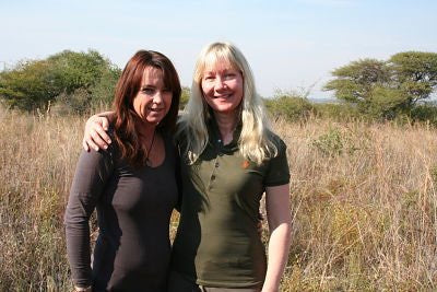LA Larkin with Lynne MacTavish who inspired Hannah Venter in Prey