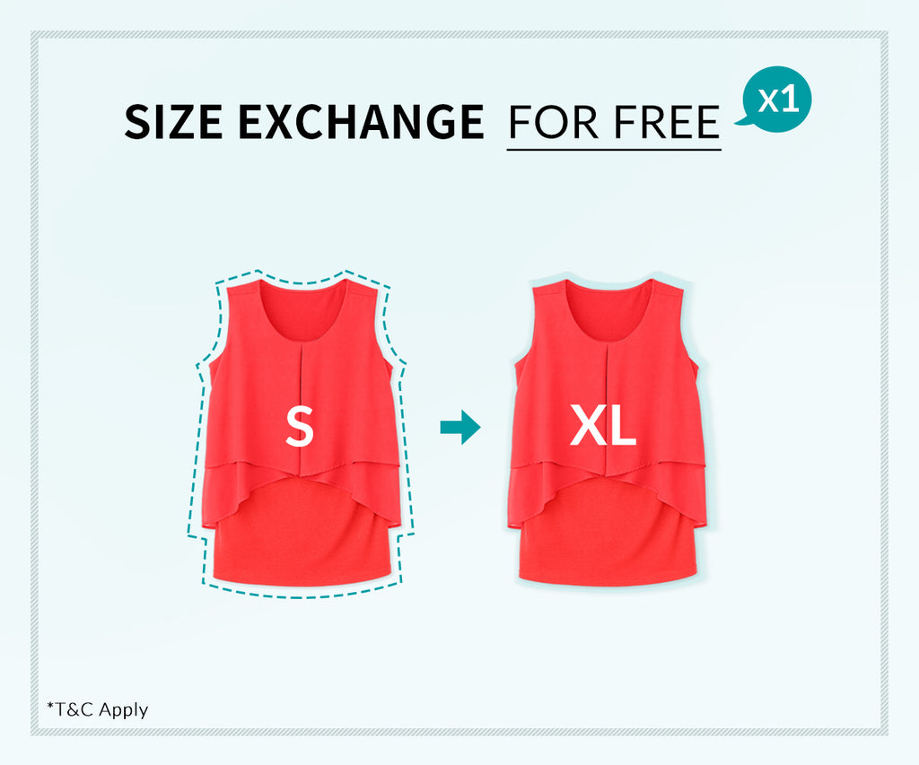 Size Exchange for Free | Mamaway Malaysia