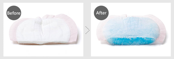 Breast pads water absorption test