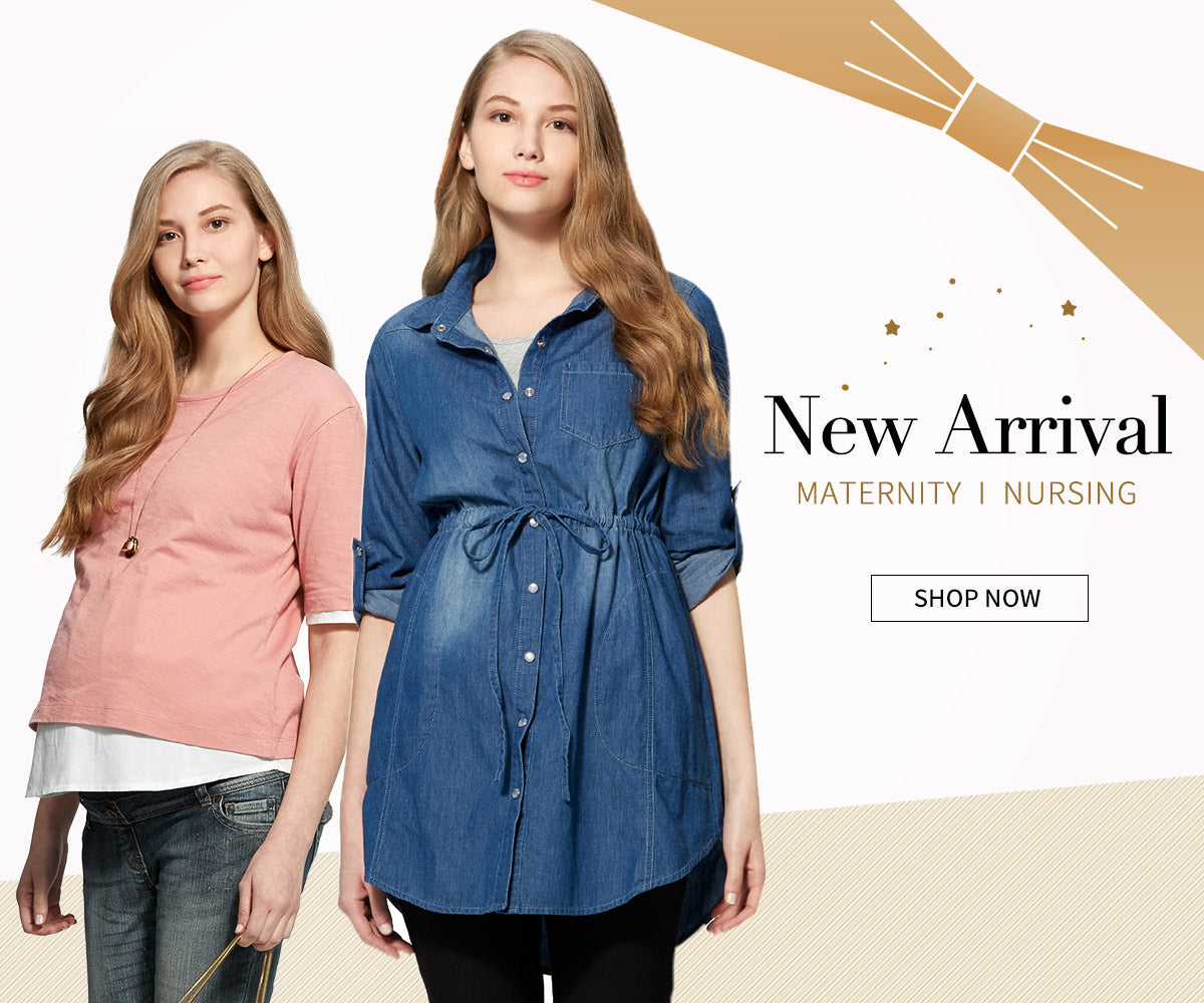 New arrival Maternity and Nursing Top Dress Mamaway
