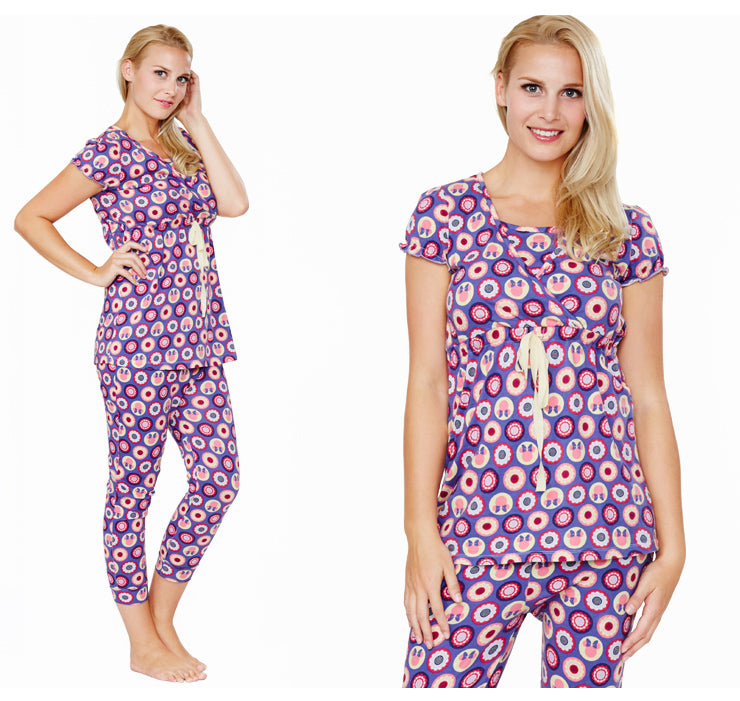 Minnie Dot Pattern Maternity & Nursing Pajamas