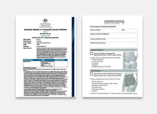 Recommended by Physiotherapists around the world. TGA certified in Australia (medical grade prescription product).