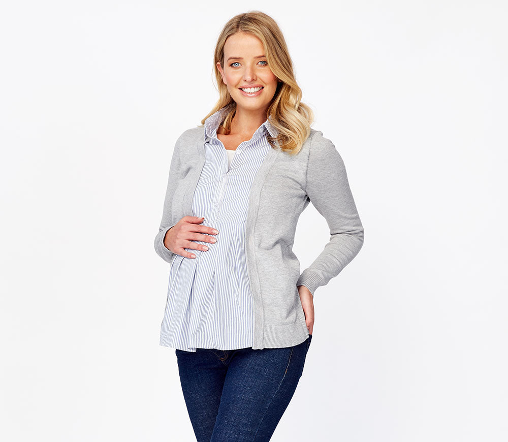 Cardigan with Maternity & Nursing Top (2 in 1)