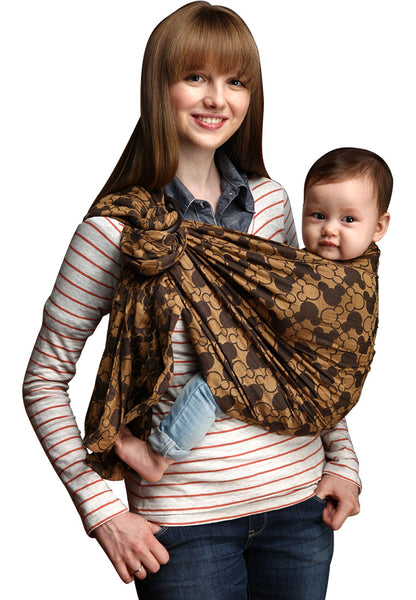 Mickey Kaleidoscopes Baby Ring Sling- Brown