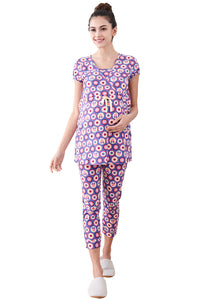 Minnie Dot Pattern Maternity & Nursing Pajamas/ Sleepwear Set - Mamaway Trading (M) Sdn. Bhd.