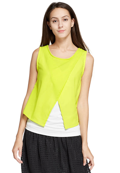 Chiffon Color Block Maternity & Nursing Top