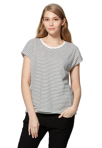 Basic Stripe Maternity & Nursing Tee