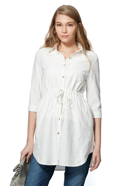 Cool Dry Maternity & Nursing Shirt Dress
