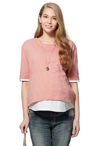 2 in 1 Cool Cotton Maternity & Nursing Top