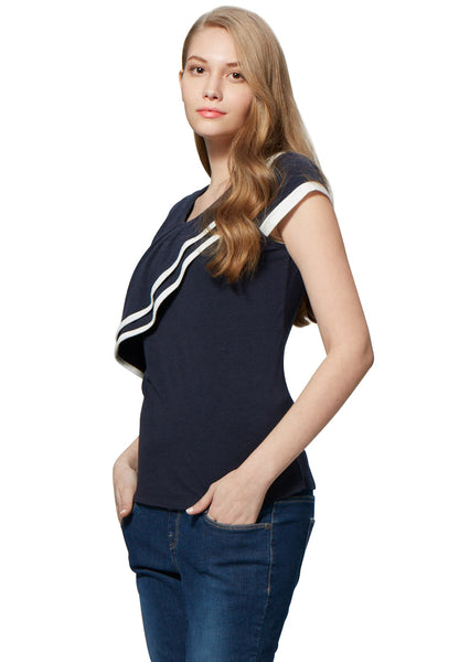 Ruffle Maternity & Nursing Top
