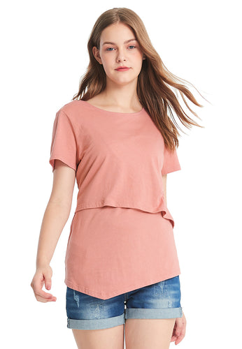 Asymmetrical Maternity & Nursing Long Top