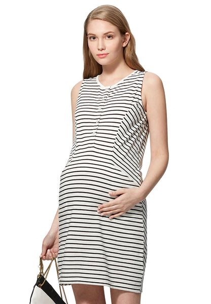 Cool Cotton Maternity & Nursing Dress
