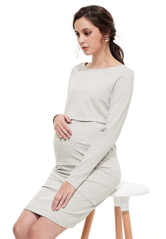 Ultra-stretch Maternity & Nursing Dress