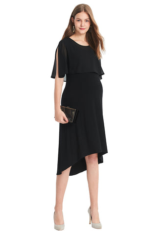 Maternity & Nursing Dress with Chiffon Top