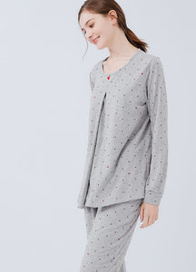 Mickey Dotty Maternity & Nursing Pajamas / Sleepwear Set