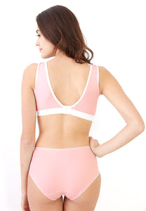 [Padded] Antibacterial Crossover Sleeping & Nursing Bra