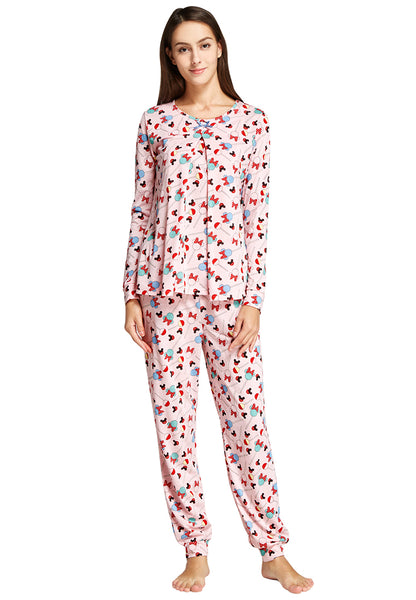 Minnie Lollipop Maternity & Nursing Pajamas/ Sleepwear Set
