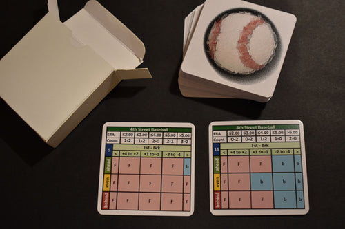 4th Street Baseball Board Game Count Cards