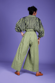 Candi Striped Paper Bag Trousers