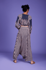 Fari Striped Top & Harem Pants Set