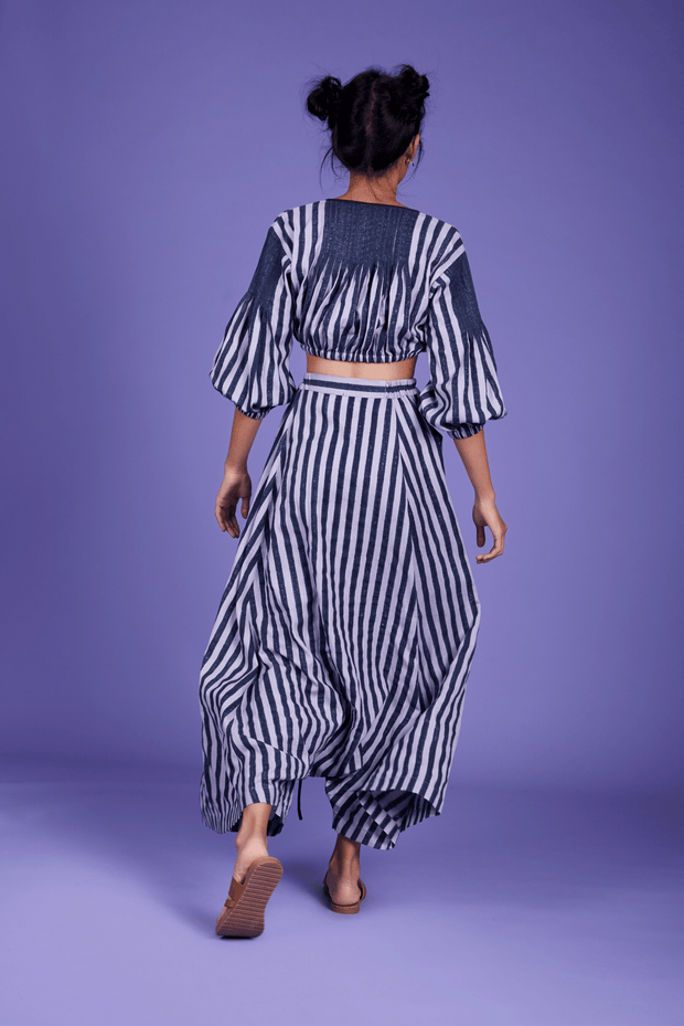 Fari Striped Harem Pants