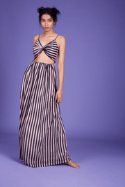 Saya Striped Maxi Dress
