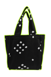 Black Dotty Little Tote Bag