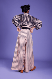 Candi Striped Shirt & Trouser Set