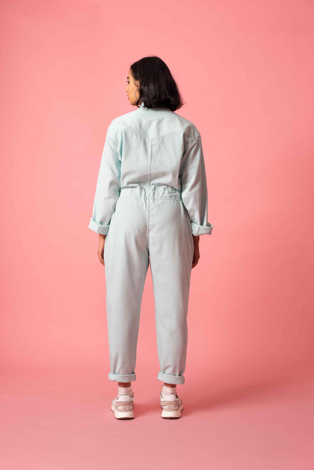 Back of Norblack Norwhite's Mint Jumpsuit at Omi Na-Na