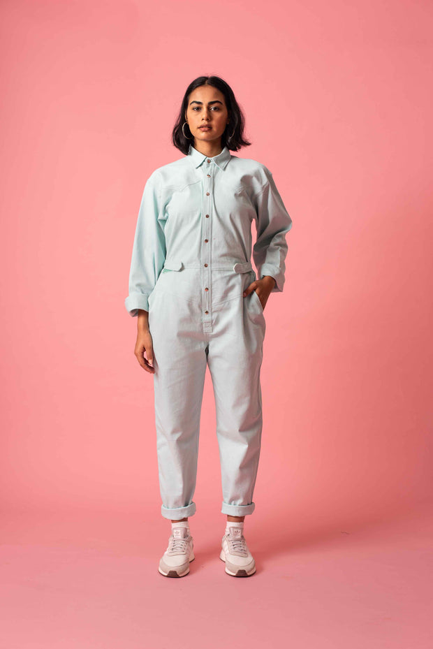 Front of Norblack Norwhite's Mint Jumpsuit at Omi Na-Na