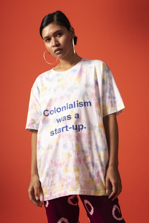 Unisex Colonisation Was A Start Up Tee Multi