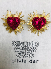 Sparkle Heart Earrings