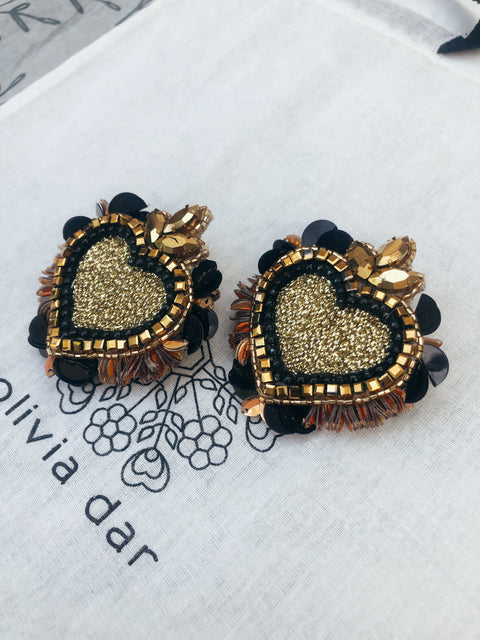 Black and Gold Noto Earrings