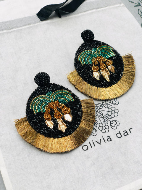 Mosaic Palm Earrings