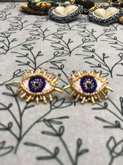 Mini Blue Eyes Earrings