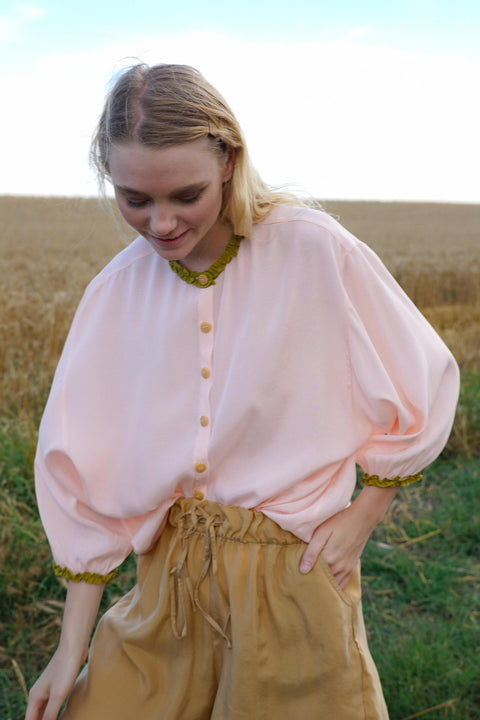 Pink & Pistachio Milo Baby Frill Shirt