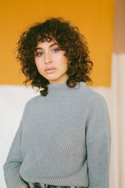 Grey Organic Cotton Knit Jumper
