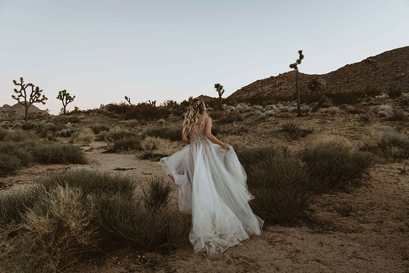 Bridal gown featured in desert photoshoot