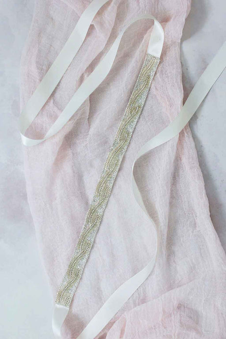 Santolina Bridal Sash by Mauve et Blush